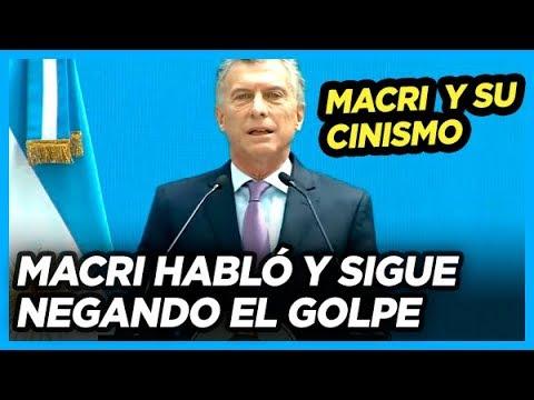 GRAVE. MACRI habló sobre la situación en bolivia y sigue negando el Golpe