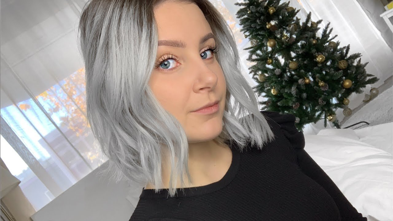 Blaue haare grau Haartönung für