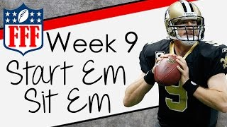 Week 9 Start'Em Sit'Em - Sleepers - 2015 Fantasy Football