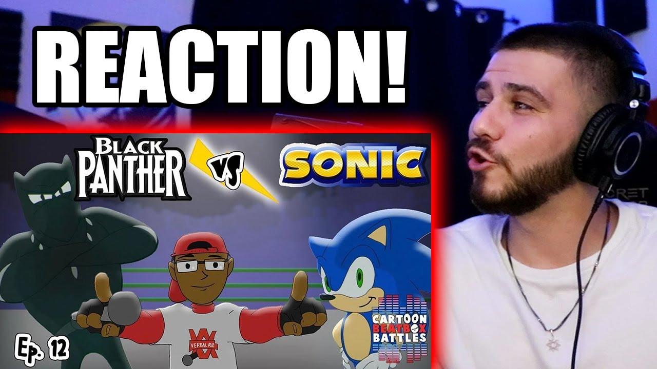 REACTION Black Panther Vs Sonic - Cartoon Beatbox Battle