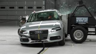 2009 Audi A4 side IIHS crash test
