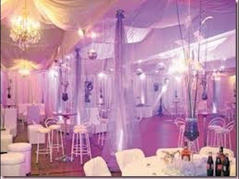 Decoraci n con telas para 15 a os 1 youtube - Decoraciones de bares ...