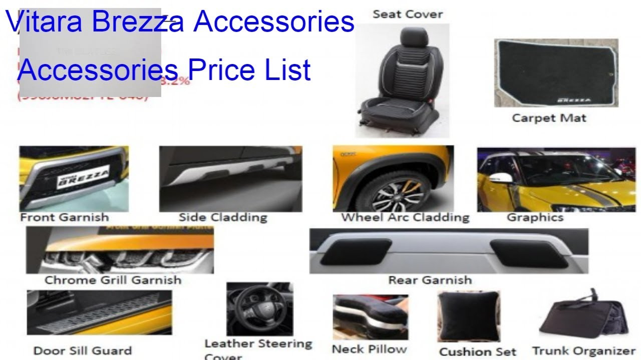 Vitara Brezza Accessories And Accessories Kit Youtube
