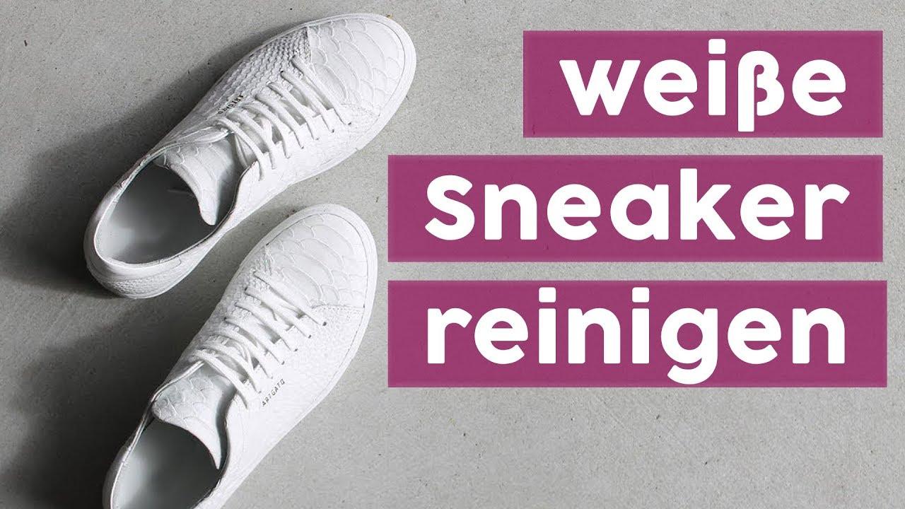 weiße leder sneaker reinigen