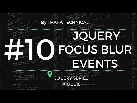 jQuery Focus and Blur Effect Differences