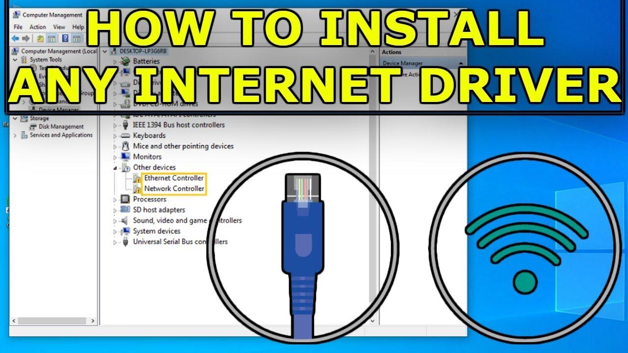 Как настроить интернет и достать к нему нужные драйвера в windows.