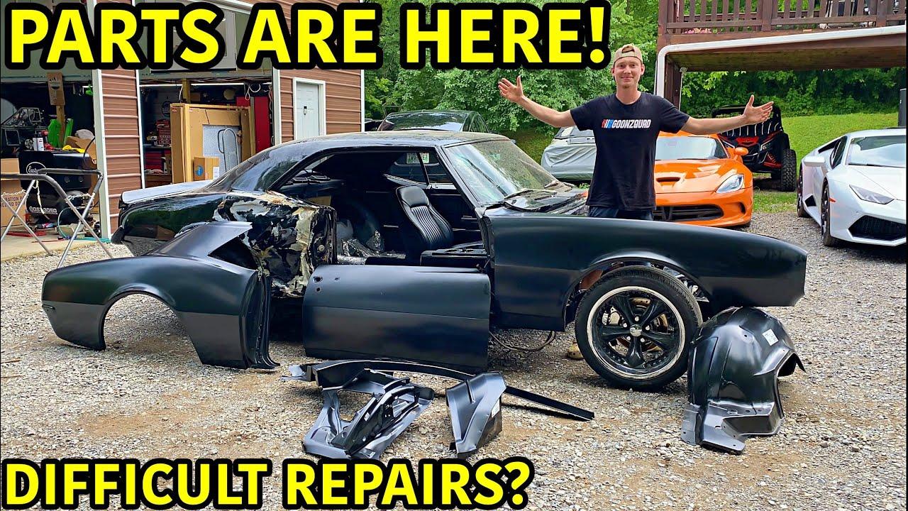 Rebuilding A Wrecked 1967 Chevrolet Camaro SS Part 6