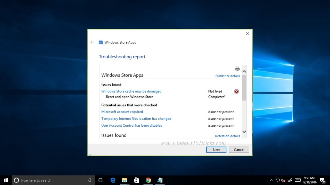 How To Fix Windows Store Cache May Be Damaged problem In Windows 10