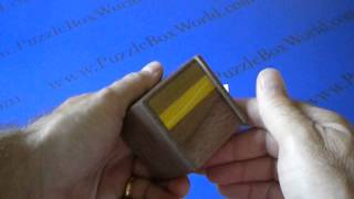 2 Sun 4 Step Natural Wood Japanese Puzzle Box