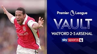 Henry scores brace in debut season! | Watford 2-3 Arsenal | 23rd April 2000 | Premier League Vault