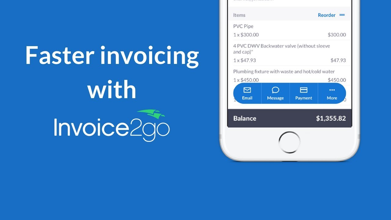send your invoice faster with fewer steps than ever with invoice2go