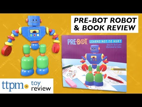 Pre-Bot Wooden Robot & Book from Fiwi Toys LLC