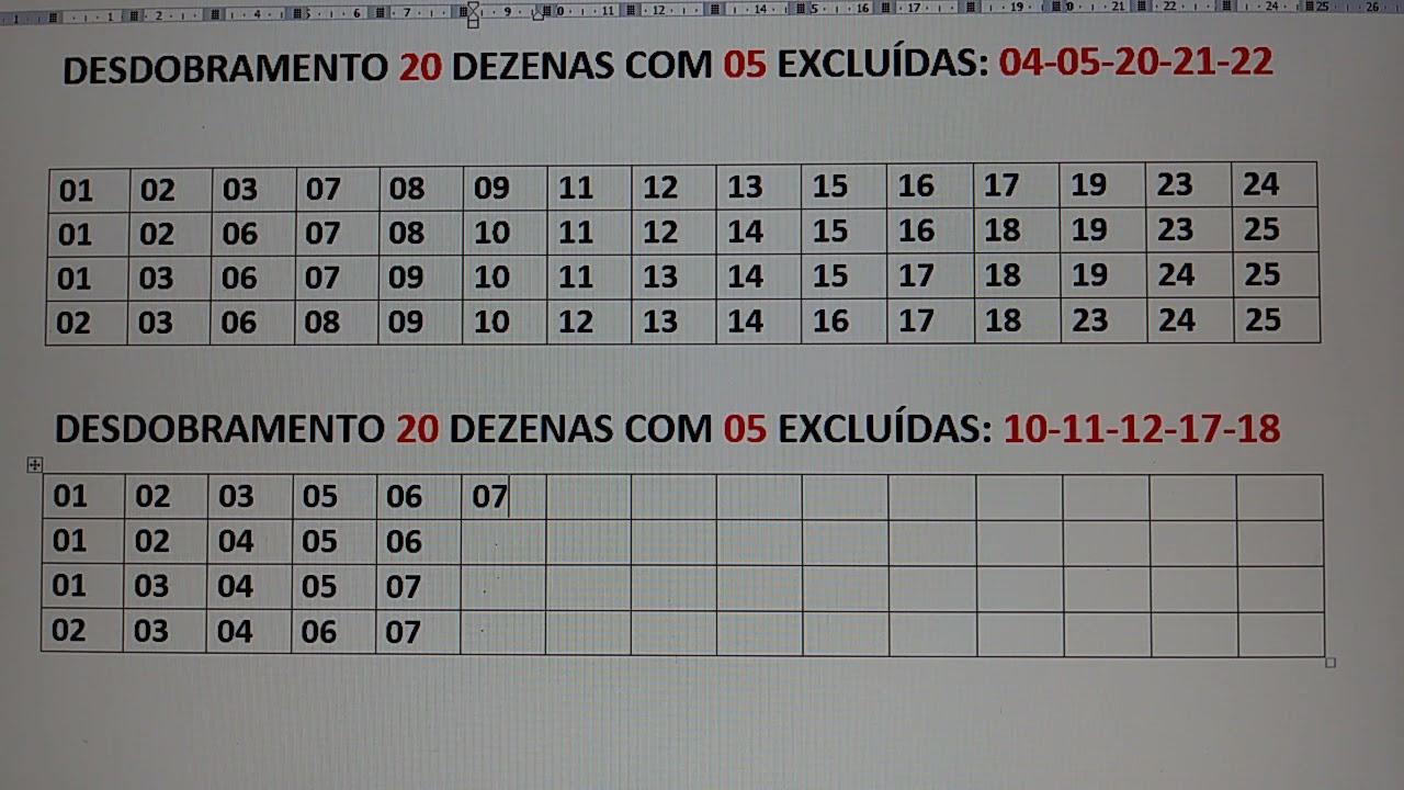 Download DESDOBRAMENTO LOTOFÁCIL 20 DEZENAS - DICAS PARA DESDOBRAMENTOS.