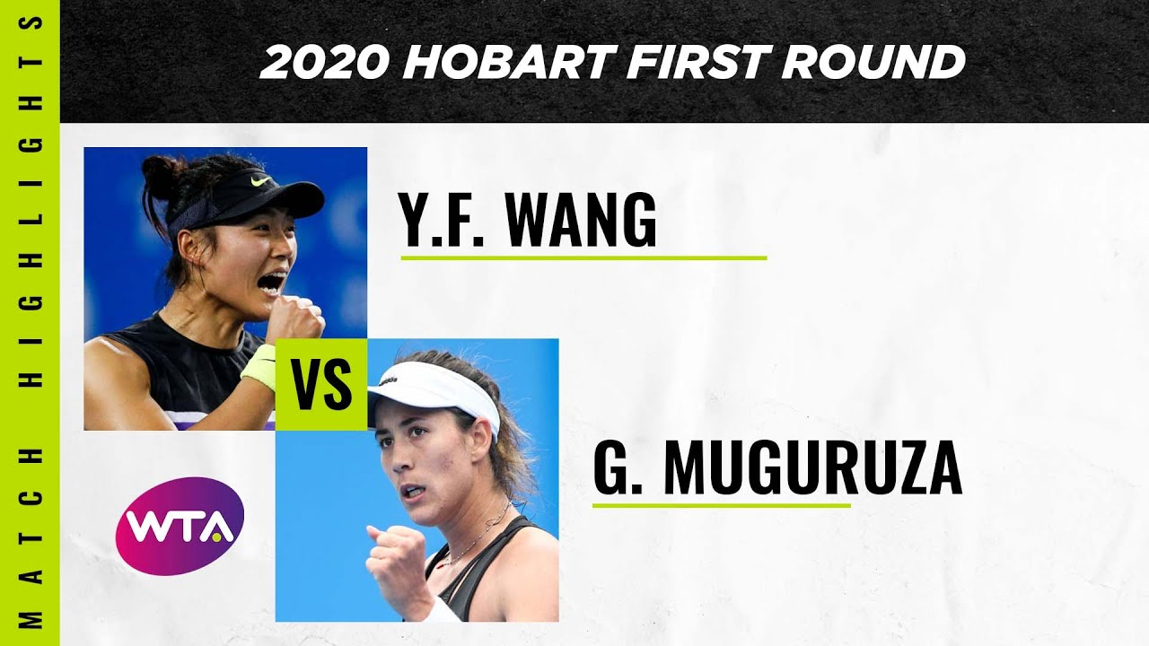 Garbiñe Muguruza vs. Yafan Wang | 2020 Hobart First Round | WTA Highlights