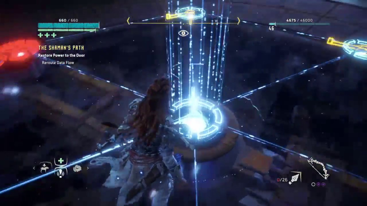 Horizon Zero Dawn The Frozen Wilds Lock Puzzle Solution 1 Youtube Upsilon Circuit Is One Part Game Show Video And All