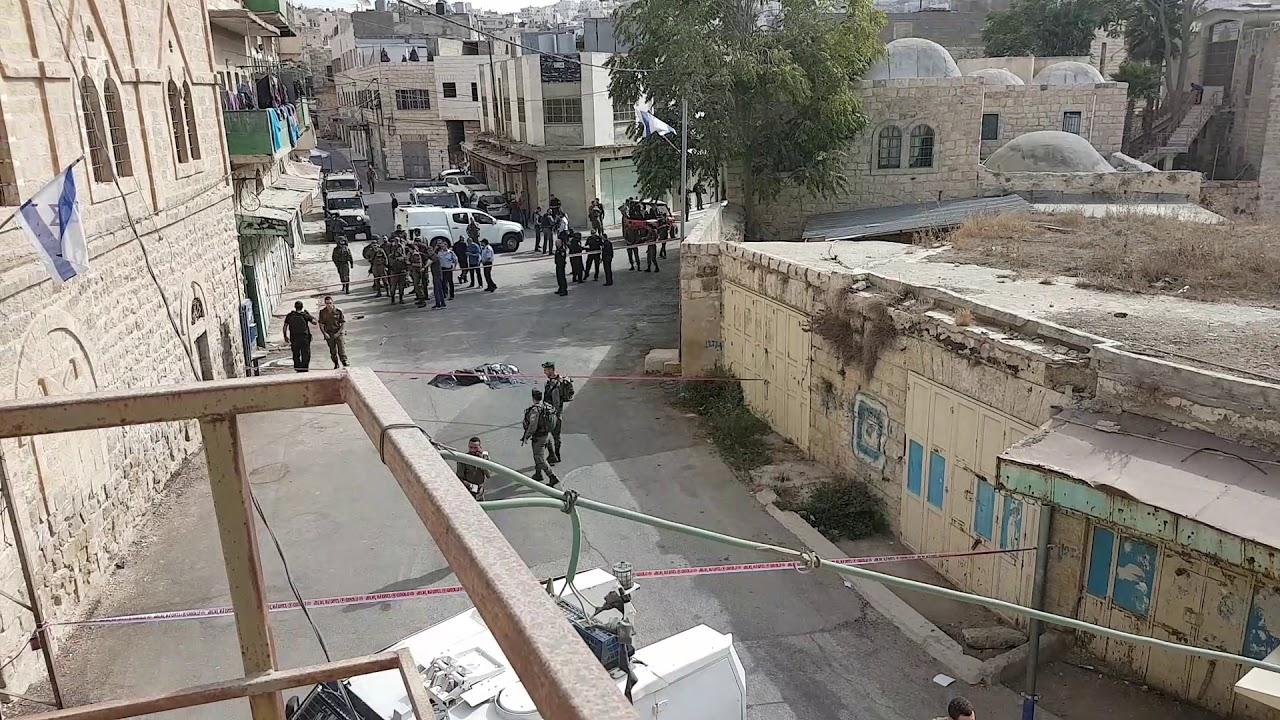 תיעוד: זירת פיגוע דקירה בחברון