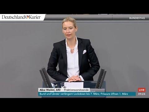 Bundestag: Alice Weidel (AfD) zerlegt Lockdown-Kanzlerin Merkel