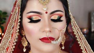 Indian BRIDAL Makeup Double Cut Crease Long Lasting WATERPROOF दुल्हन का मेकअप कैसे करें