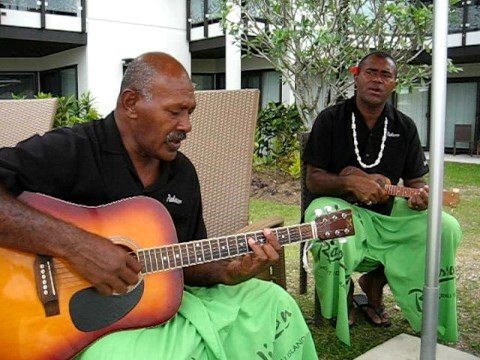 Poolside singers Radisson Hotel Denarau Island Fiji