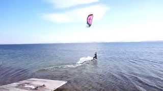kitserfing  in Armenia Lake Sevan!