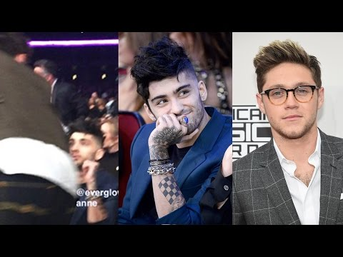 Niall Horan & Zayn Share AWKWARD Handshake During AMAs Run-In