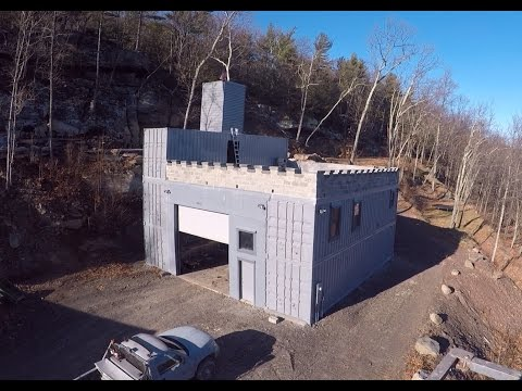 Building a shipping container castle