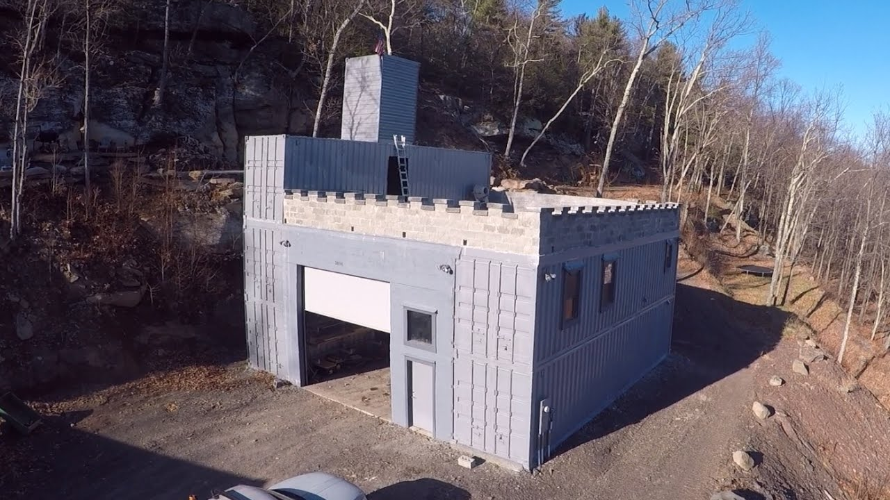 building a shipping container castle - youtube