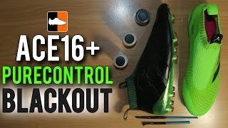 what happens when you black out adidas ace16 purecontrol football boots soccer cleats