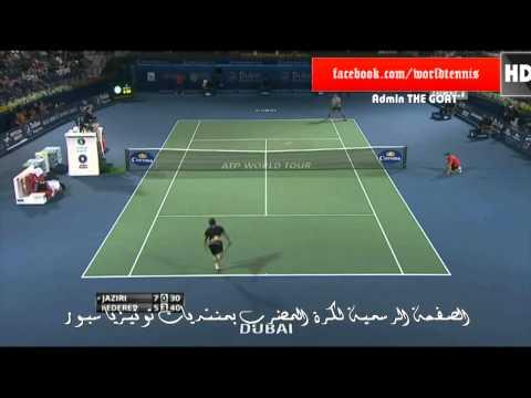 Roger Federer Vs Malek Jaziri Full Highlights Dubai 2013 (HD)
