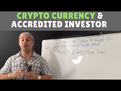 Crypto currency allow's any person to invest in assets only Accredited Investor profited before