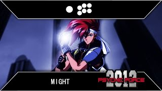 Psychic Force 2012: Might Arcade Playthrough