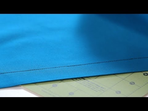 How to Make a Double-Fold Hem | Sewing Machine