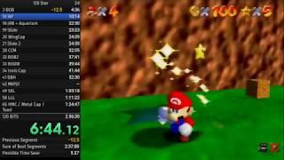 [PB] Super Mario 64 - 120 Star Speedrun in 2:37:42