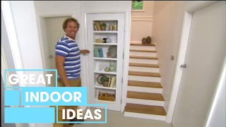 DIY: How to build a bookshelf in a door