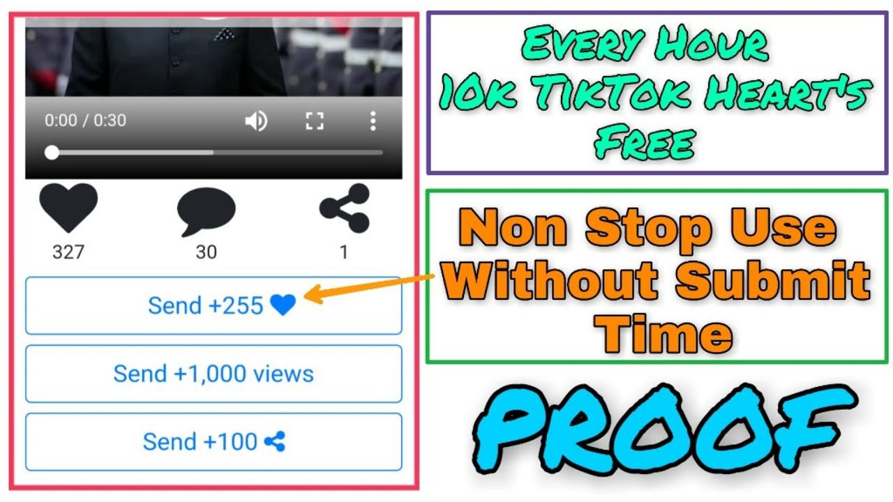 Get 10k TikTok Hearts Free Every Hour 2019 - How To Increase TikTok Heart's  2019