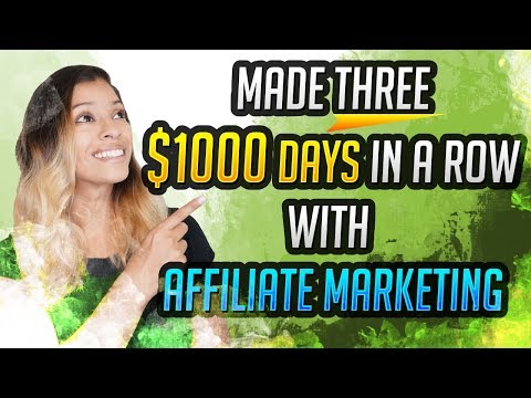 🤑Made Three $1000 Days In A Row With Affiliate Marketing | Proud Moment