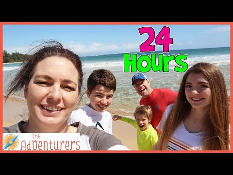 24 Hours On The Beach / That YouTub3 Family I The Adventurers