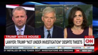 CNN New Day politcal panel debate over Trump not under investigation and his tweets