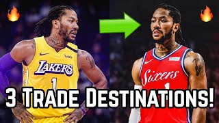 3 Trade Destinations For Derrick Rose! | All-star Reunion With Lebron James On Los Angeles Lakers!