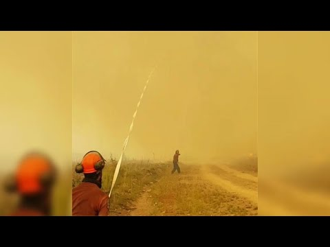 Your Morning Show - Fire Fighters Hose gets sucked into Tornado