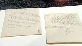 Une lettre de Napoléon adjugée à 187 500 euros aux enchères