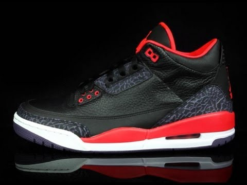 Air Jordan 3 - Bright Crimson (360 View) - YouTube cbbc2a216