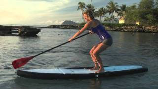 Nikki Gregg SUP cross bow turn