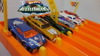 DHR AcceleRacers! All 36 Cars on the Hot Wheels Super 6-Lane Raceway!