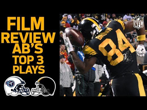 Antonio Browns Top 3 Catches vs. the Titans | Film Review | NFL Network