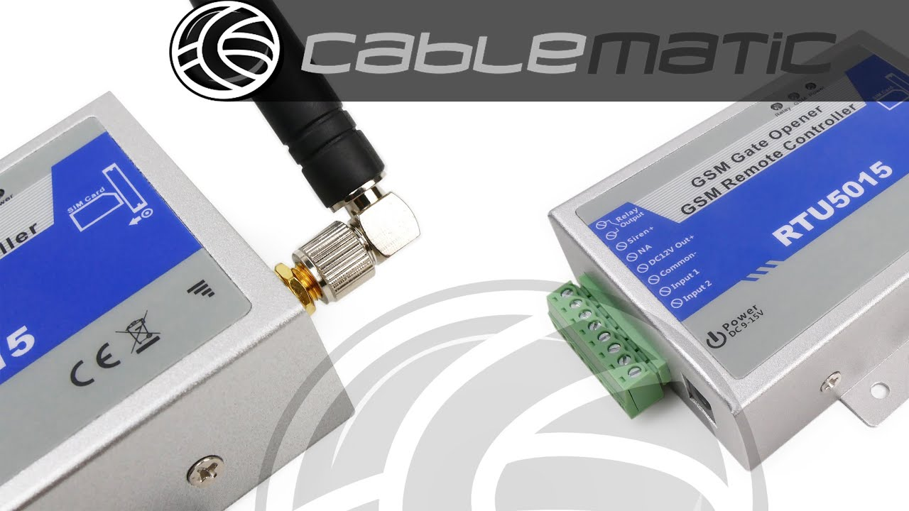 Control remoto por GSM de apertura de puertas y equipos eléctrico  distribuido por CABLEMATIC ®