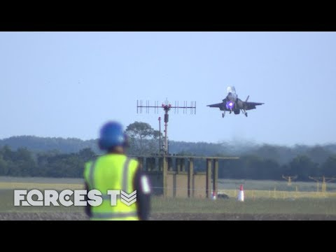 Welcome Home: First British F-35Bs Arrive At Their New Base | Forces TV