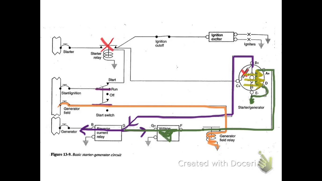 starter generator circuit youtubestarter generator circuit [ 1280 x 720 Pixel ]