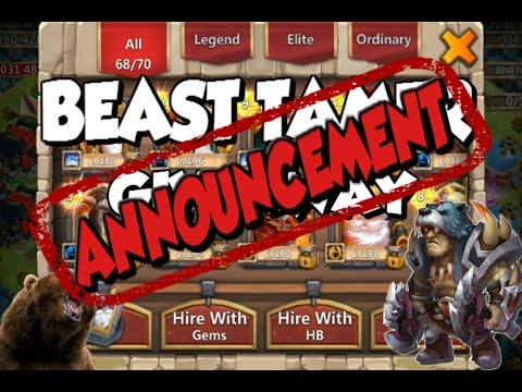 Castle Clash: Beast Tamer Giveaway ANNOUNCEMENT + NEW HERO