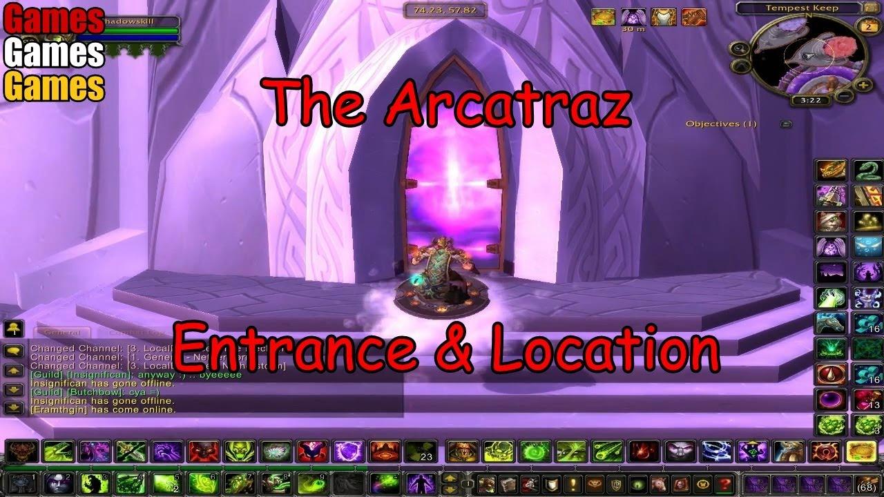 the arcatraz entrance location world of warcraft the burning crusade youtube. Black Bedroom Furniture Sets. Home Design Ideas